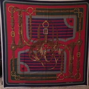 """Authentic vintage """"coaching"""" silk scarf"""